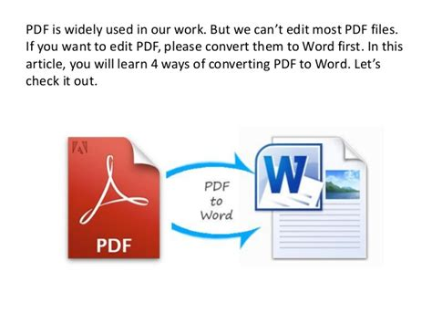 convert pdf to word how how ot convert pdf to word
