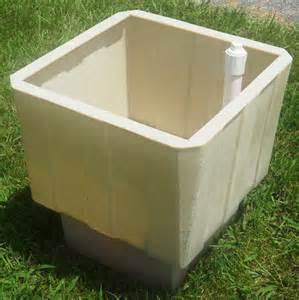 self watering square planter 24 inch planter