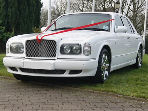 bentley arnage white bentley wedding car hire in manchester blackpool bury