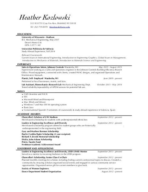 uw resume resume ideas