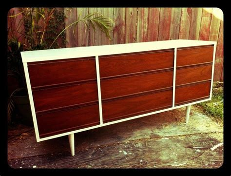 painted mid century modern furniture chalk painted