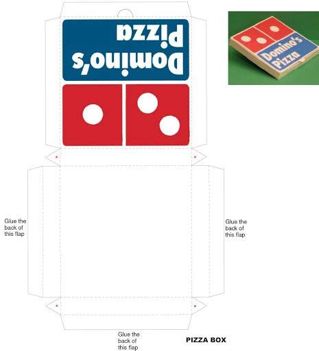 pizza box template mini printable ideas para pizza