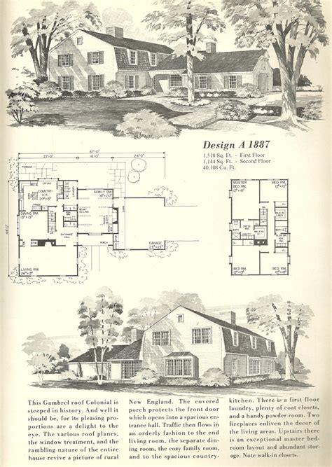 gambrel floor plans vintage home plans gambrel 1887 antique alter ego