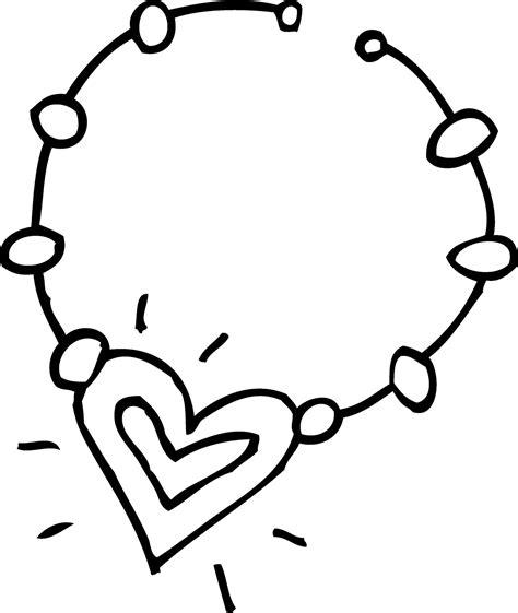 heart necklace coloring page los dibujos para colorear dibujos de joyas para colorear