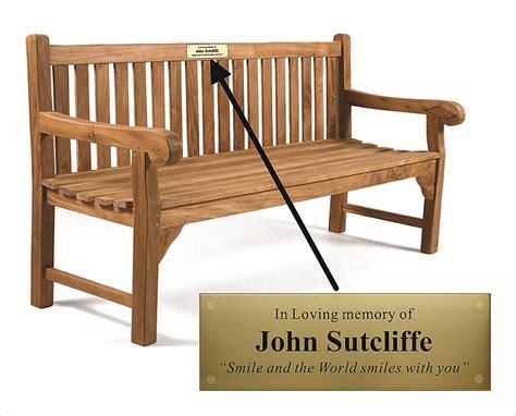 park bench plaques commemorative plaques engraved company plaques