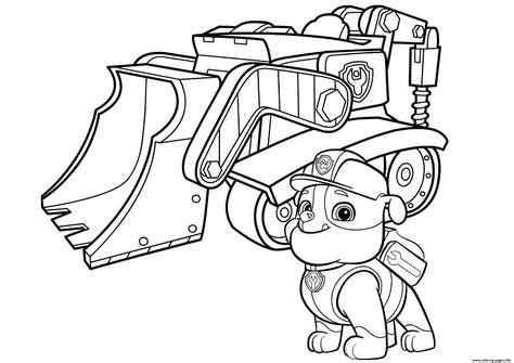 Galerry coloring pages paw patrol rubble