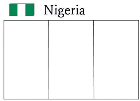 geography blog nigeria flag coloring page