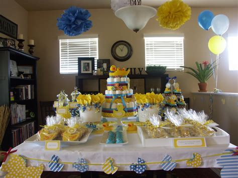 rubber ducky baby shower decoration ideas for parents