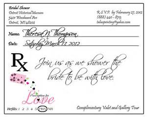 prescription pad invitation custom listing for by