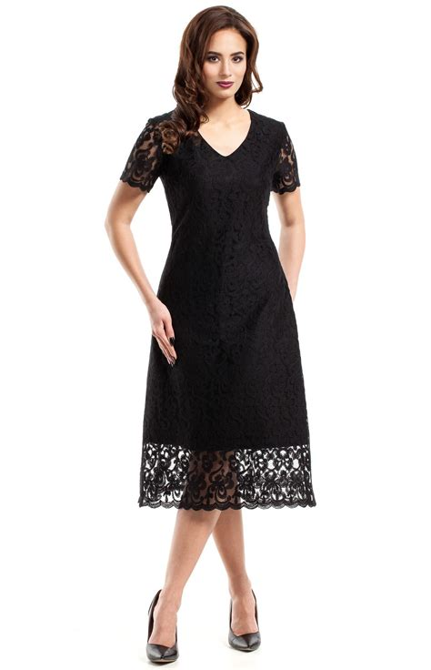 robe de chambre femme dentelle black flared lace evening dress me275n idresstocode boutique of negligee and
