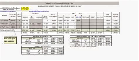 formato nmina excel 2015 liquidaci 243 n de n 243 mina liquidaci 211 n de n 211 mina