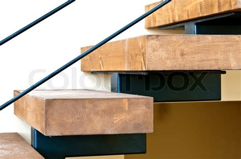 Row House Plans Wooden Stairs And Solid Laminated Wood Mounted On A Metal