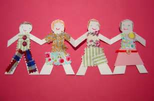 How To Make Paper Doll Chains - paper doll chains kiddley