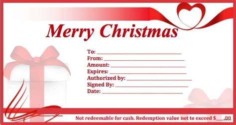 christmas gift certificate templates wikidownload