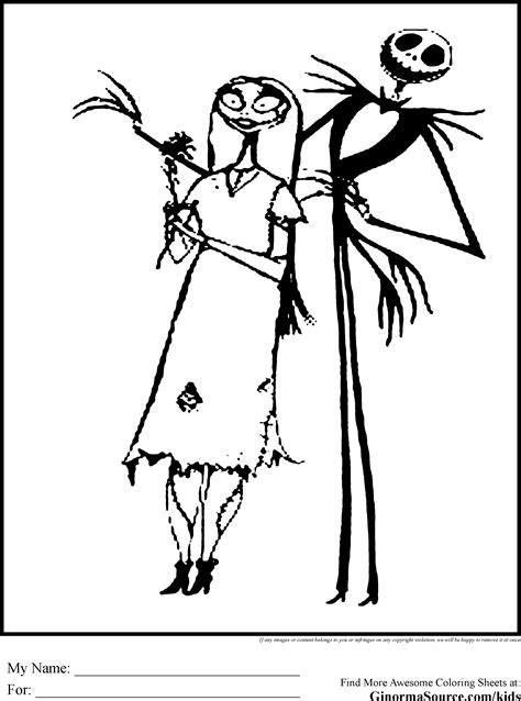 Nightmare Before Christmas Coloring Pages Printable Free Printable Nightmare Before Coloring Pages