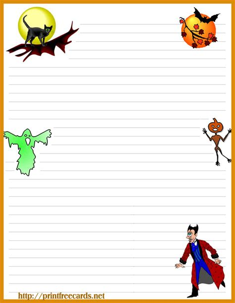 printable halloween stationery paper free halloween stationary letterhead 4