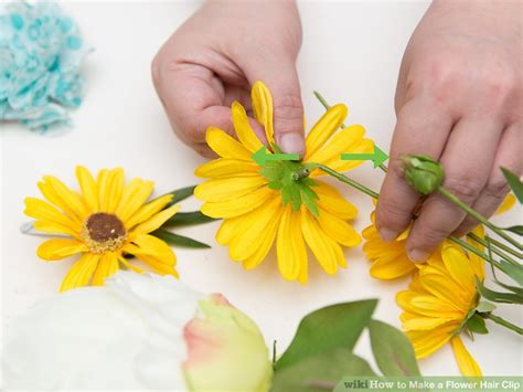 how to make clip 4 ways to make a flower hair clip wikihow