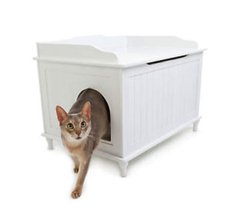 cat litter box furniture bench litter box furniture enclosed cat kitty hidden table bench