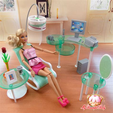 2017 new summer computer room for barbie doll fashion