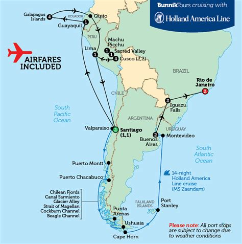 princess cruises south america south america cruise map