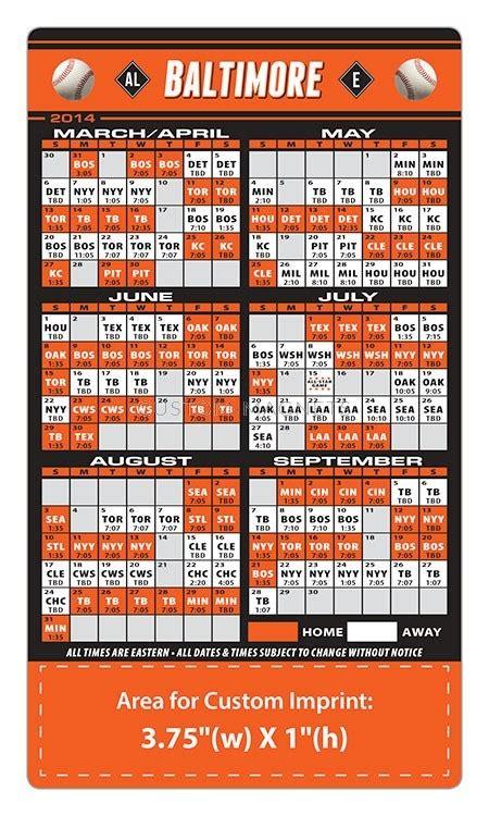 Orioles 2017 Schedule Printable