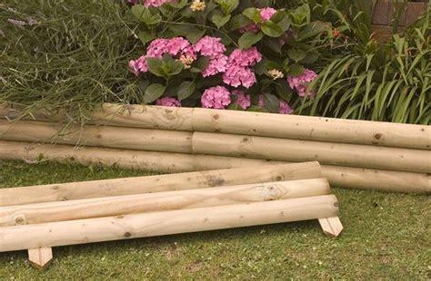 wood flower bed border wood edging ideas gardening backyard pinterest gardens raised garden beds and