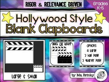 Blank Clapboard Template By Ms Brinky Teachers Pay Teachers Clapper Board Template Free