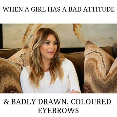 Bad Girl Meme - bad drawn eyebrows memes www imgkid com the image kid