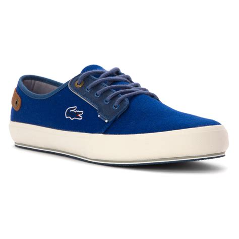 lacoste sneakers mens lacoste s saulieu chunky sneakers lc 7524840 blue
