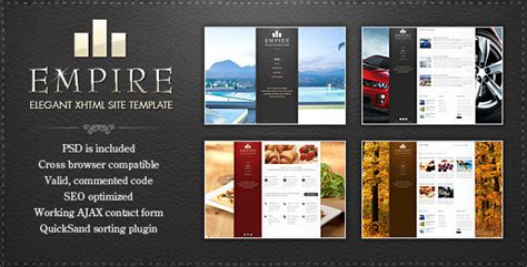 themeforest download old version empire elegant xhtml template html others themeforest
