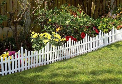 flower bed fence short picket fence for front flower bed garden and landscaping pinterest gardens