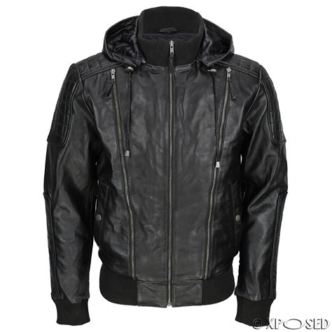 hooded motorcycle jacket hooded leather bomber jacket jackets review