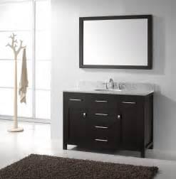 Virtu usa midori 54 inch double sink bathroom vanity in gloss white