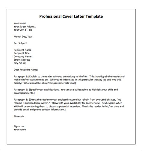 Cover Letter Physical Therapy sle physical therapist cover letter 9 documents in