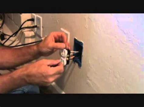 installing a duplex electrical outlet preparing the