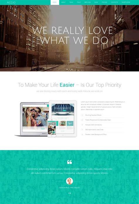 70 Best One Page Website Templates Free Premium Freshdesignweb Parallax Website Template