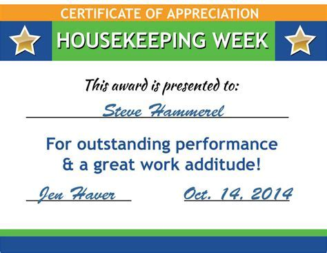 Safety award certificate template java offshore has received the free housekeeping certificates poster downloads promos yelopaper Gallery