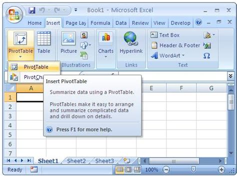 how to insert pivot table olap cube in excel and pivot table from external data