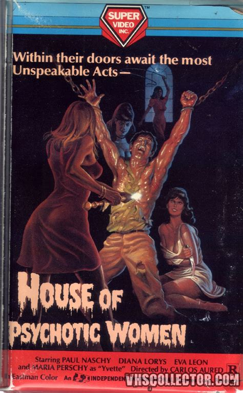 house of women house of psychotic women vhscollector com your analog videotape archive