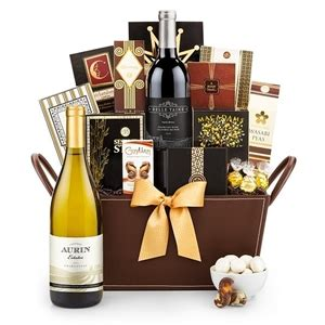 California Chardonnay Wine Basket Wine Gifts