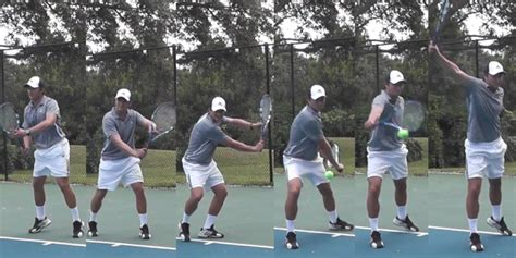 backhand swing the one handed backhand groundstroke tennis pro strokes
