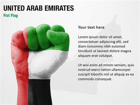 powerpoint templates uae united arab emirates fist flag powerpoint map slides