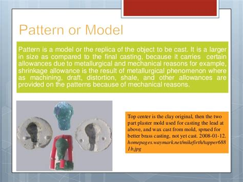 pattern allowances slideshare pattern allowances in metal casting