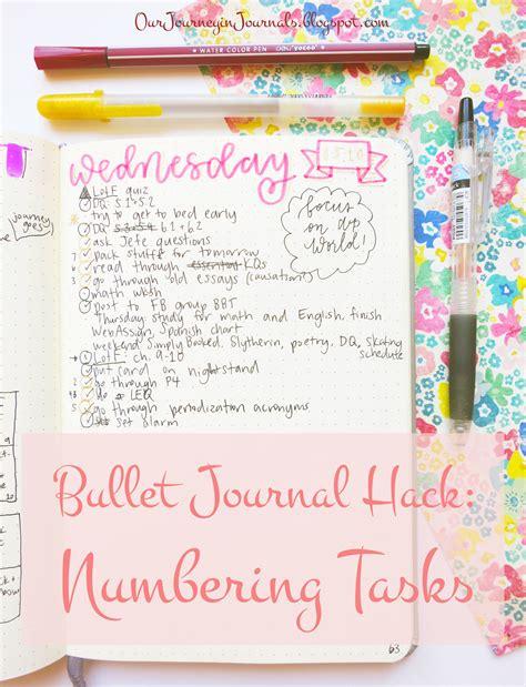 bullet journal hacks our journey in journals bullet journal hack numbering tasks