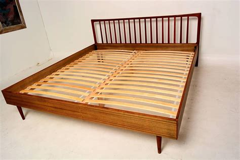 danish modern bed danish modern king teak bed frame and headboard at 1stdibs