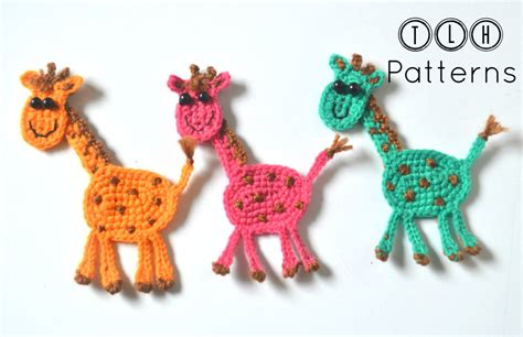 giraffe applique crochet giraffe applique pattern crochet pattern crochet