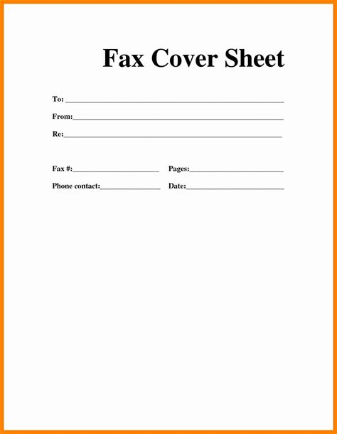 Sle Cover Letter Fax by 6 Basic Fax Cover Sheet Pdf Sales Clerked