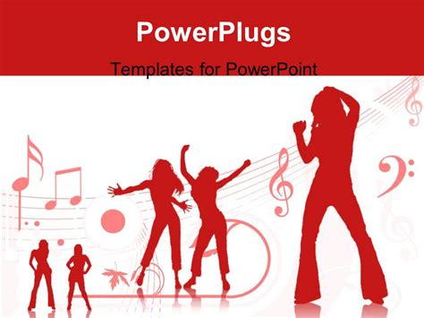 templates powerpoint dance powerpoint template a number of people dancing with music