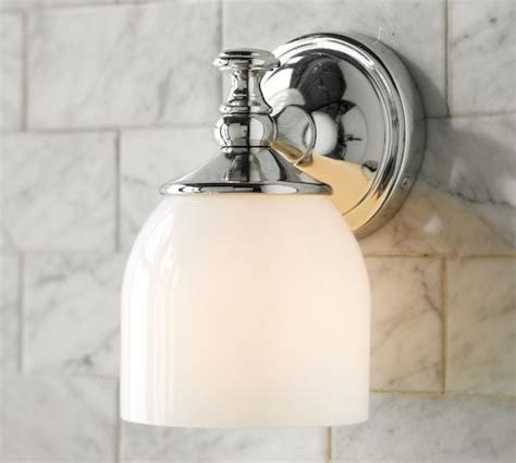 bathroom mirror sconces mercer single sconce pottery barn a pair of these on