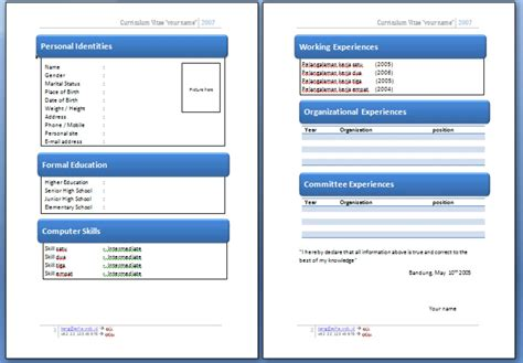 format video yang bagus curriculum vitae contoh format curriculum vitae yang bagus
